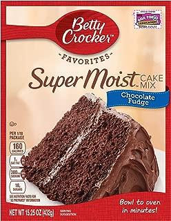 Betty Crocker Baking Mix, Super Moist Cake Mix, Chocolate Fudge, 15.25 Oz Box