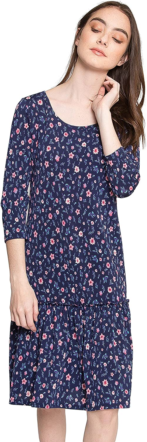 RUCHE BY YOUR SIDE FLORAL DROP WAIST DRESS