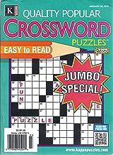 Quality Popular Crossword Puzzles (January 26, 2015 - Jumbo Special)