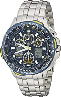 Citizen Mens JY0040-59L Blue/black Angels Skyhawk A-T Stainless Steel Eco-Drive