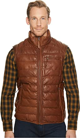Scully - Noah Soft Like Butta Leather Ribbed Vest