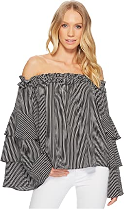 Off the Shoulder Tiered Sleeve Top