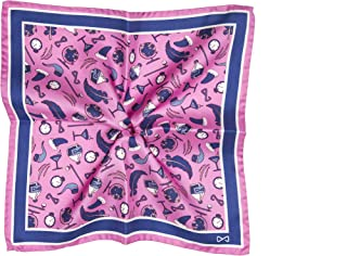 Illogico POCHETTE PINK WORLD uomo seta 33x33 rosa fatta a mano Made in Italy