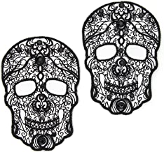 Cousin DIY 39996046 Lace Skull Elbow/Knee Patch Pack, Black
