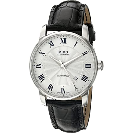 Mido Men's MIDO-M86004214 Baroncelli Analog Display Swiss Automatic Black Watch