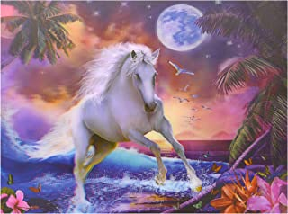 SWcarry 3D Lenticular Picture Poster Artwork Unique Wall Decor Holographic Pictures (Horse) Without Frame