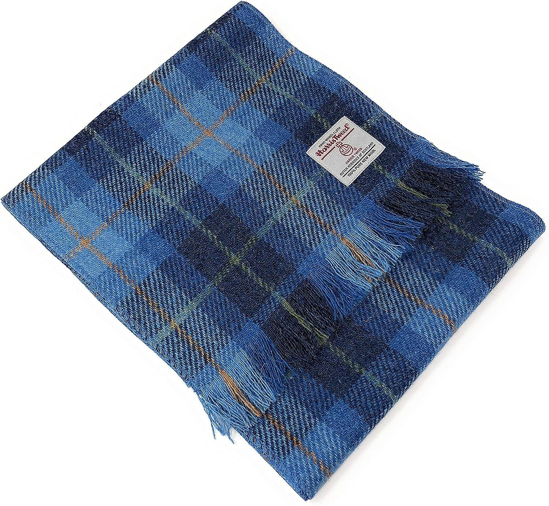Scott MacKenzie service Harris Tweed Blue Popular brand in the world Tartan Scarf