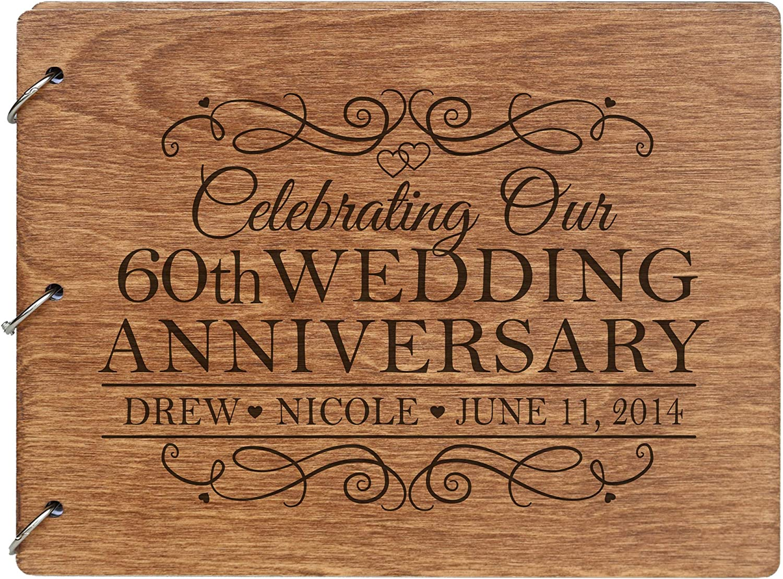 LifeSong Milestones Personalized 60th Guest 売り込み Wedding 公式ストア Anniversary