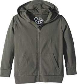 Cotton Jersey Zip-Up Hoodie (Toddler/Little Kids)