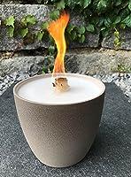 Schmelzlicht taupe/Sand Outdoor Wachs Kerze Reste Tischfeuer Terrassenfeuer Wachsfresser Wachsbrenner Dauerbrenner...