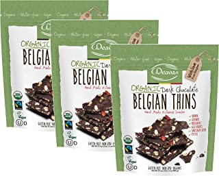 Deavas Belgian Thins Organic Dark Chocolate with Quinoa and Goji, 17.1 oz - 3Pk
