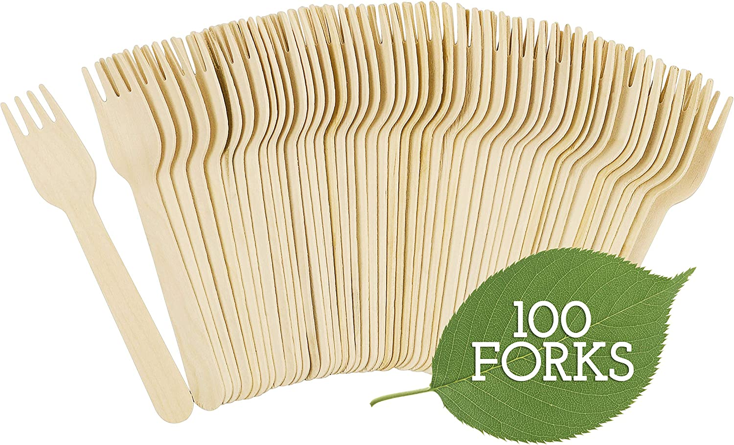 Galashield safety Disposable Wooden Forks - 100 Eco Length Piece New popularity 6.3