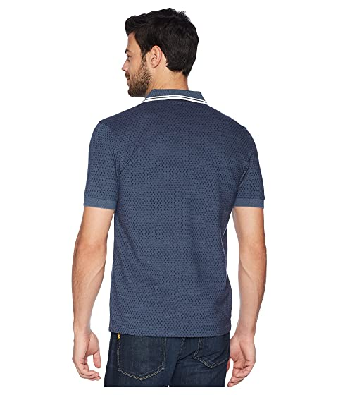 Carbon Lake Oxford con piqué geométrico estampado Fred Perry Camisa x16Zwz0qS