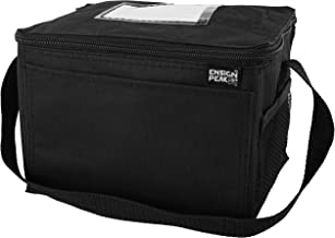 Insulated Lunch Cooler Bag, Black