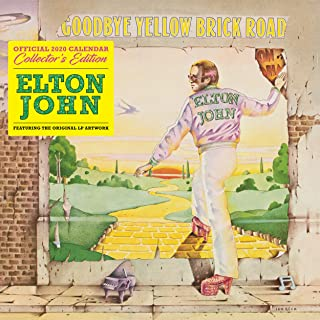 Elton John Collectors Edition 2020 Calendar - Official Square Wall Format Calendar with Record Sleeve Cover