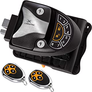 Best Carmtek - RV Keyless Entry Door Lock Latch Handle | RV Door Lock with Deadbolt, Keypad and Fob | Keyless RV Door Handle for Travel Trailer Camper, Made of Zinc Alloy (Back/Front) Review