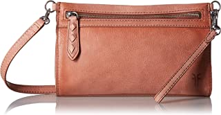 FRYE womens Reed Leather Wristlet Crossbody Bag