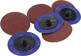 ABN Aluminum Oxide Roloc Abrasive Sanding Discs 50-Pack, 2in, 120 Grit – Metal Wheels for Surface Prep and Finishing