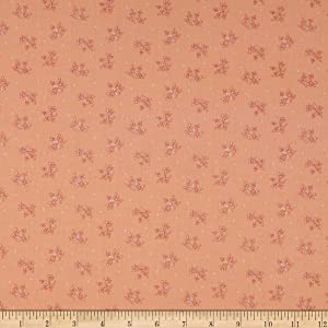 Henry Glass Spiced Garden Calico Peach Fabric by the Yard