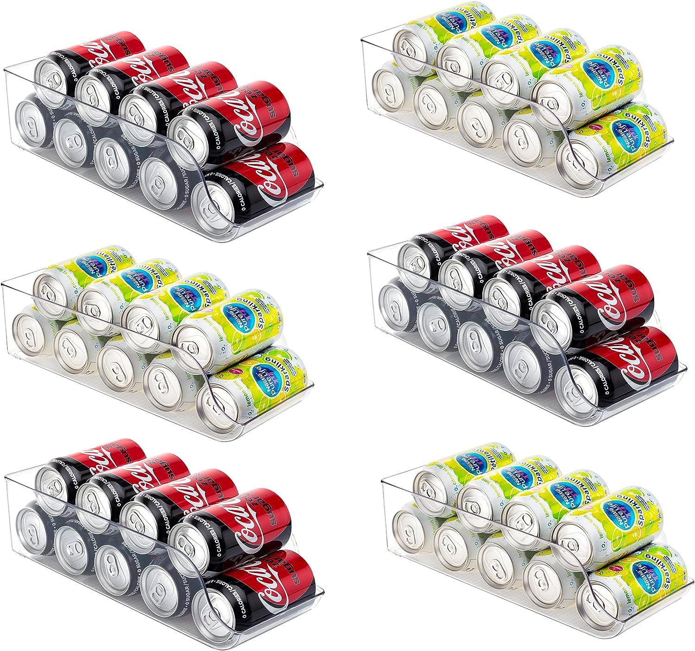 Set of 6 - JinaMart Refrigerator Soldering Organizer Bin Pop Soda Max 48% OFF Can Beve