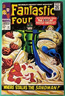 Fantastic Four (1961) 61 VF- (7.5) vs Sandman Silver Surfer cameo