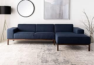 Safavieh Couture Dove Dark Blue Mid-Century Modern Sofa Sectional