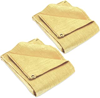 2 pack - Welding Blanket 4x6 Fiberglass. Cover, Retardant   Fireproof. Thermal resistant insulation. Brass grommets for easy Hanging and Protection