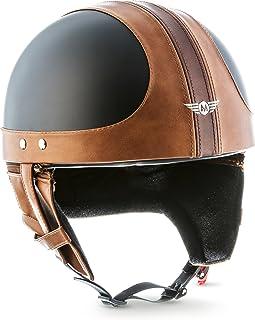 MOTO Helmets D22 - Casco Jet Semi-rígido, Cierre rápido de Fibra de Vidrio