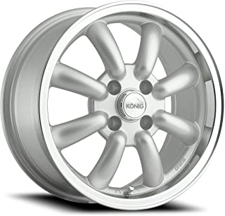 "Konig Rewind Silver Wheel with Machined Lip (15x7""/4x100mm)"