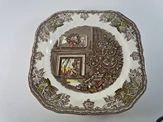 JOHNSON BROTHERS THE FRIENDLY VILLAGE THE CHRISTMAS SQUARE SALAD PLATE 7 5/8