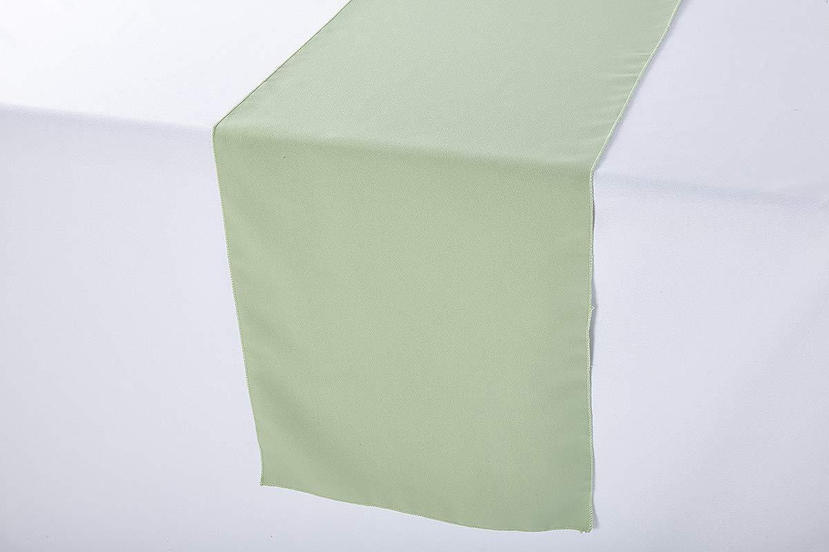 Zhen Linen Polyester Wedding Table Runner 14 X 108 Inches Sage