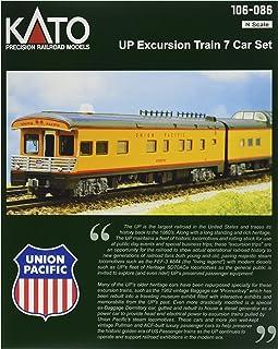 Kato USA Model Train Products N Scale Union Pacific Excursion Train 7-Car Set