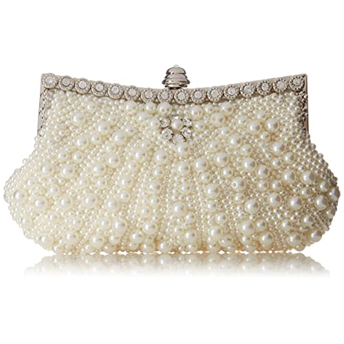 6a2b3d07f46 Fawziya Pearl Clutch Purse For Wedding Beaded Crystal Handbag