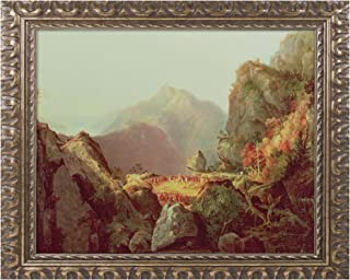 The Last of The Mohicans Canvas Artwork by James Cooper, 11 by 14-Inch, Gold Ornate Frame