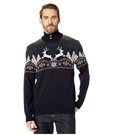 Dale of Norway Christmas Masculine Sweater (Navy/Off-White/Red Rose) Men