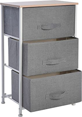 Amazon.com: Chester Drawers - Gray Wood Two Drawer Combo ...