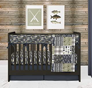 Fishing 4 Piece Crib Bedding Set