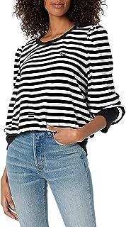 Karl Lagerfeld Paris Women's Stripe Velour W PIN