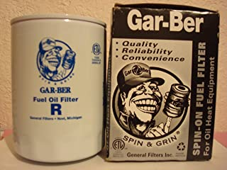 General Filters 2605 R Replacement Cartridge, 45 gph, For Use With Gar-Ber Spin-On Fuel Oil Filters, Epoxy Coated