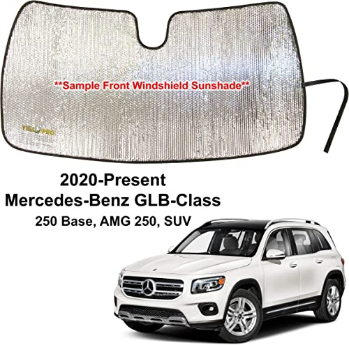 new arrival YelloPro Custom Fit Front Windshield Reflective Sunshade for 2020 2021 Mercedes sale Benz GLB-Class new arrival GLB Class, 250 Base SUV, Sun Shade Protector Accessories [Made in USA] outlet online sale