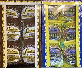 Linden's Variety Bundle, Butter Crunch + Chocolate Chip Cookies, 3 Cookies Per Pack, 2 18 Packs