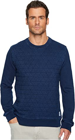 Lucky Brand - Quilted Crew Neck Sweatshirt