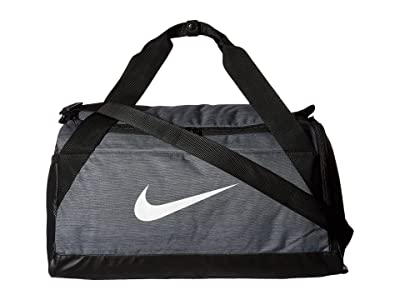 Nike Brasilia Small Duffel Bag (Flint Grey/Black/White) Duffel Bags