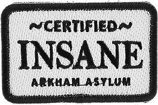 LiZMS Tactical Patch : DC Comics Batman Joker Certified Insane Arkham Asylum - Hook and Loop Fasteners