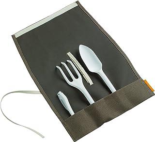 Fiskars Conjunto de jardinería, Incluye rastrillo cultivador, plantadora, cuchillo y funda, 1015626
