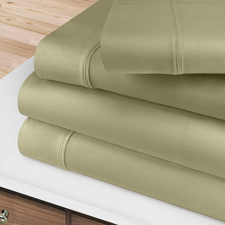 BLUENILEMILLS 出荷 Egyptian Cotton お気に入り Premium Deep Sheet 400 Pocket Set