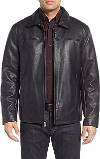 Leather Mens Lambskin Bomber Bkier Leather Jacket L Black