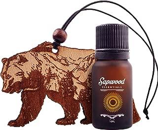 Sapwood Natural Wooden Car Air Freshener 100% Therapeutic Grade Essential Oil 10 ml   Bear + Vitality