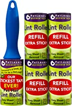 PetLovers Extra Sticky Lint Roller Mega Value Set 450 Sheets for Pet Hair Removal, Dog and Cat Lint Remover