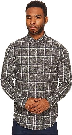 Long Sleeve Jaspe Brushed Flannel Plaid Heritage
